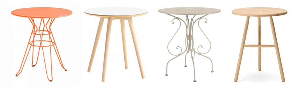 A Selection of Round Bistro Tables