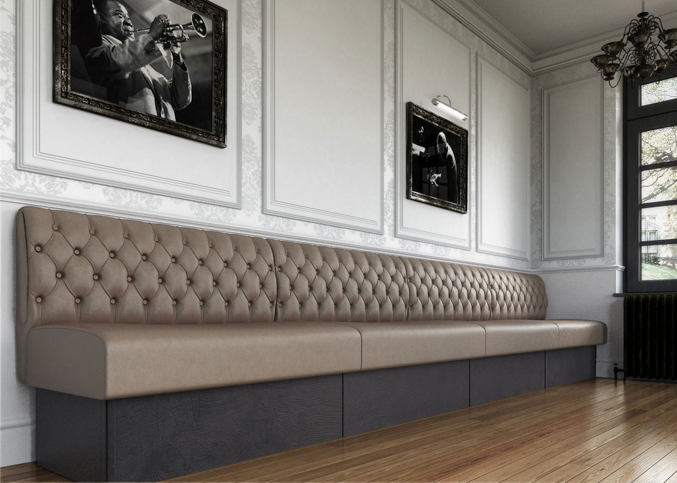 banquette seating fixed seating bench seating. Black Bedroom Furniture Sets. Home Design Ideas