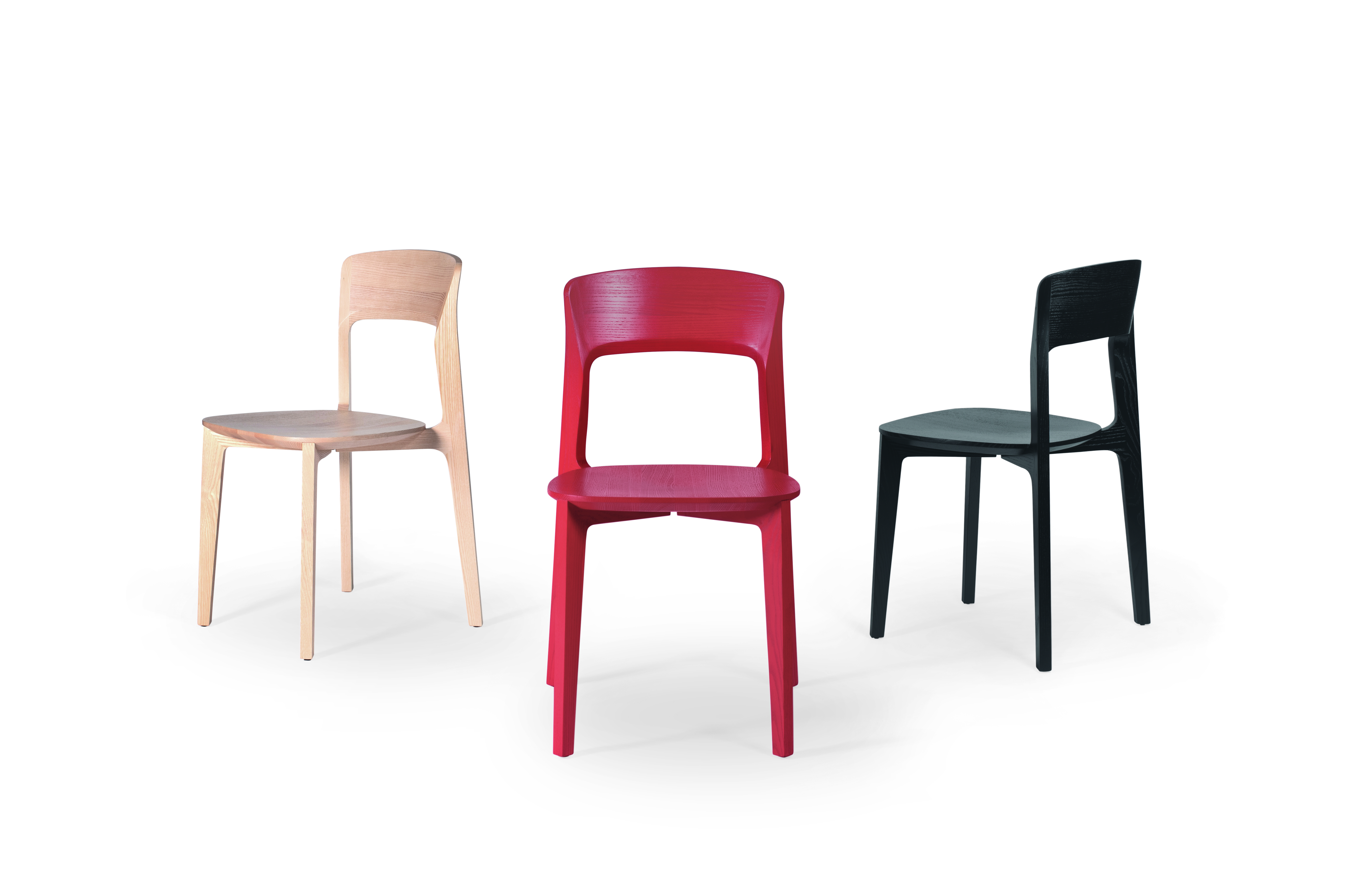 Chairs made from sustainability sourced timber