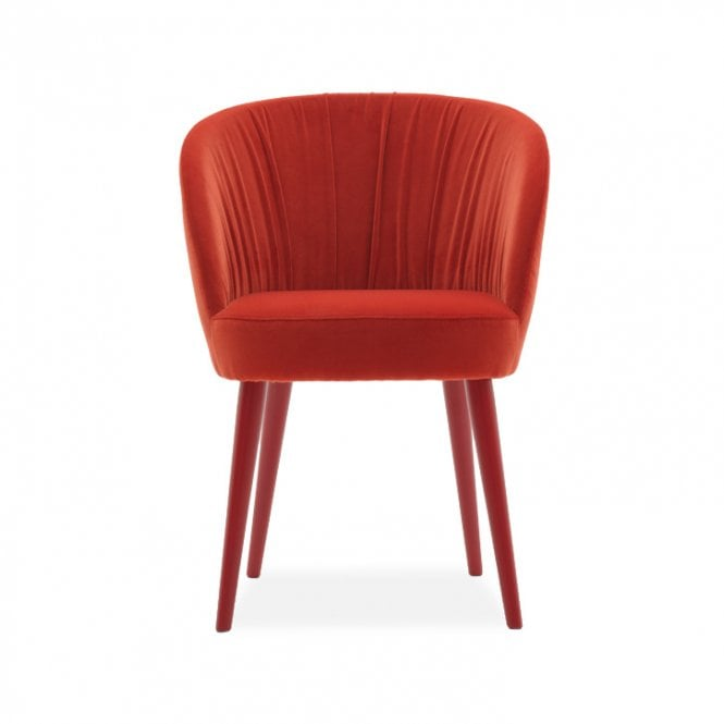 Rose Tub Chair - Pleated Back