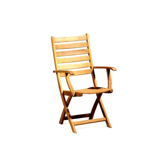 Suffolk Teak Folding High Back Armchair