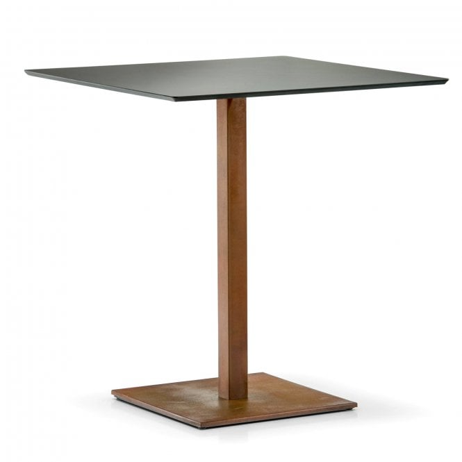 Hugo Square D1 table base - Corten Effect Finish