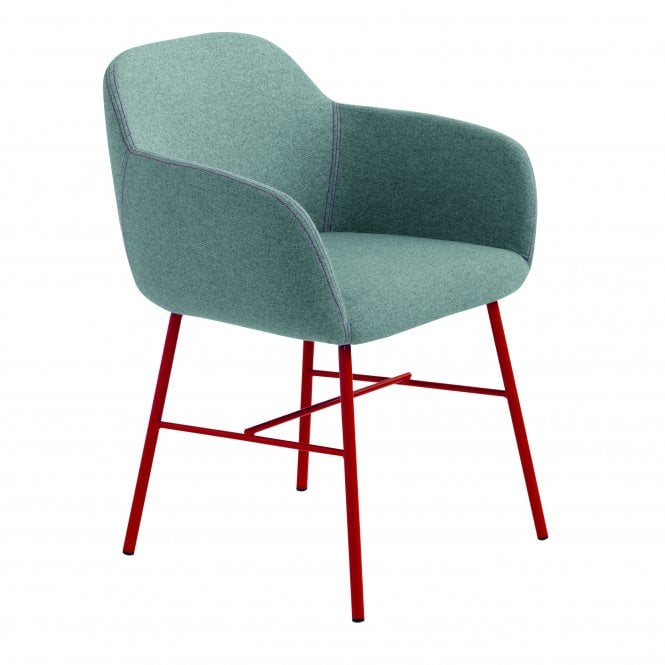 Myra Arm Chair - Metal Legs