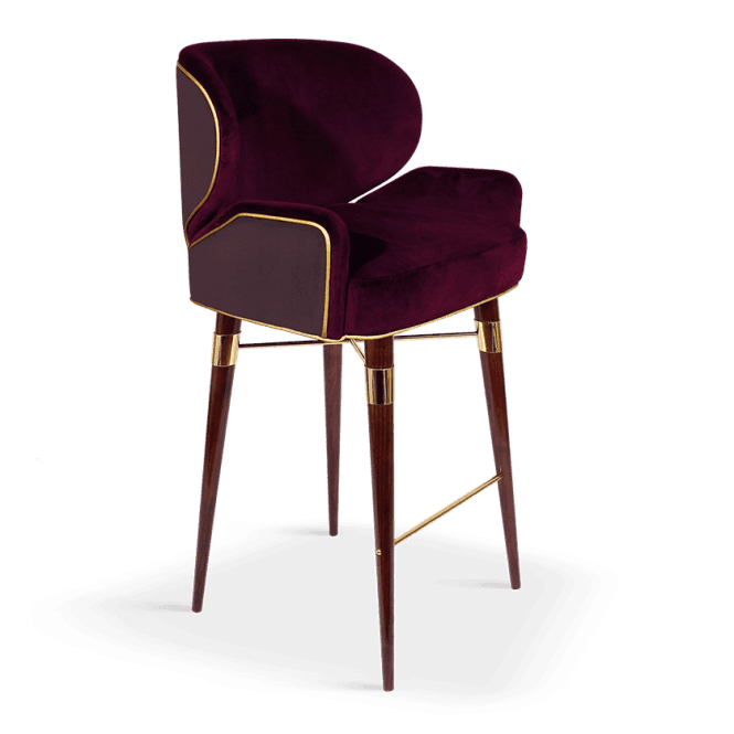 Louis Bar Stool with Arms