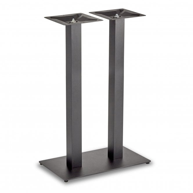Hugo Square Twin Base Poseur Height Table Base
