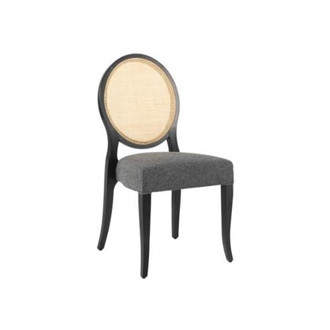 A-Round Rattan Side Chair