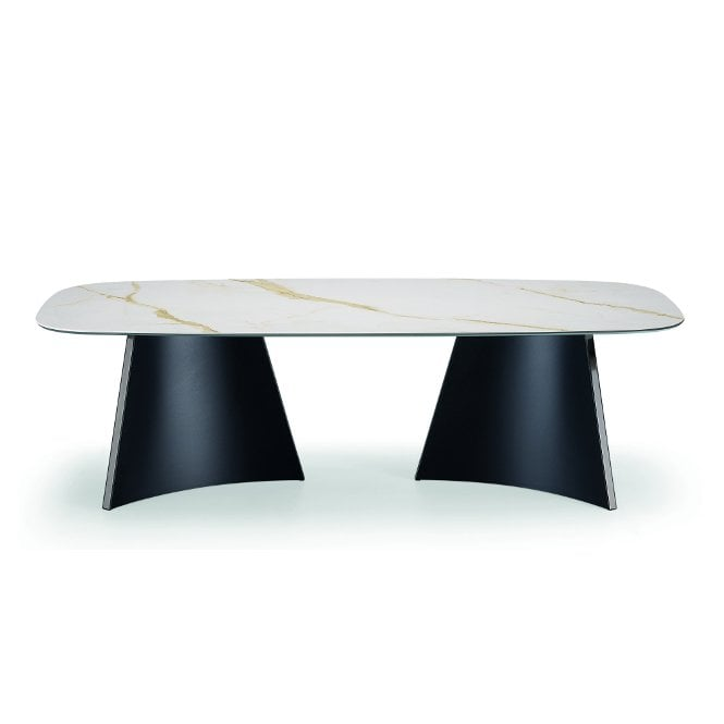 Concave Rectangular Dining Table