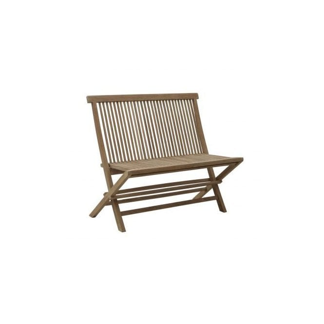 Bristol Outdoor 2 Seater Folding Bench