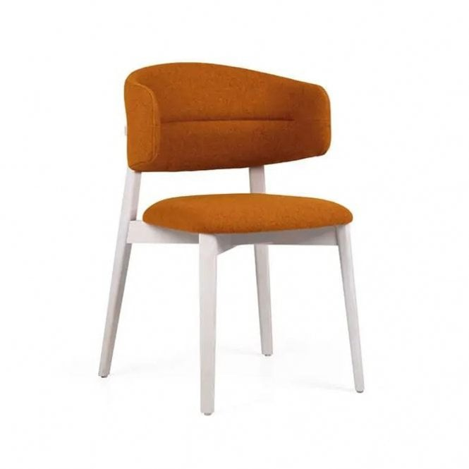 Coffee Upholstered Side Chair