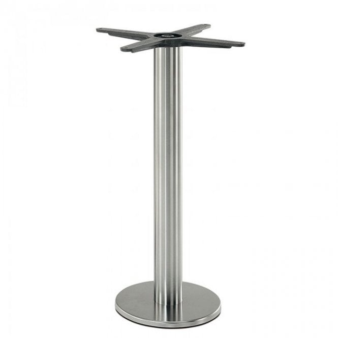 Hugo Fixed D1 table base - Brushed S/S
