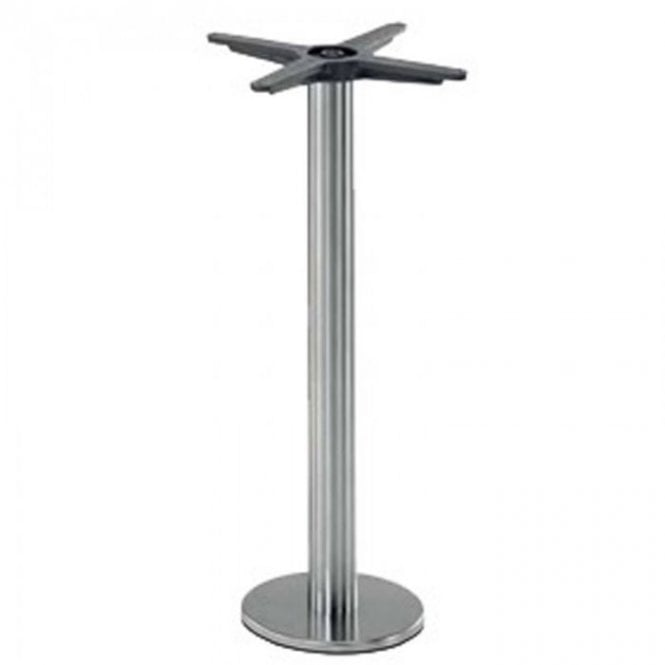 Inox Fixed P1 table base - Brushed S/S