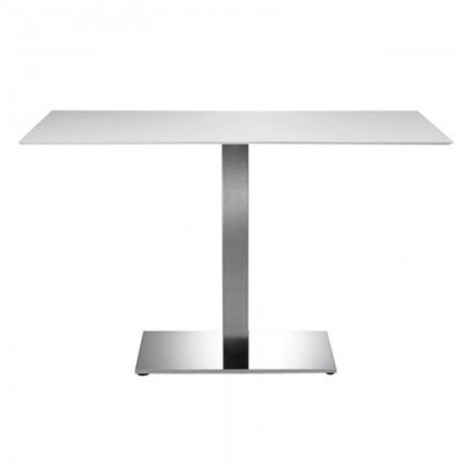 Hugo Oblong C3 table base - Brushed S/S
