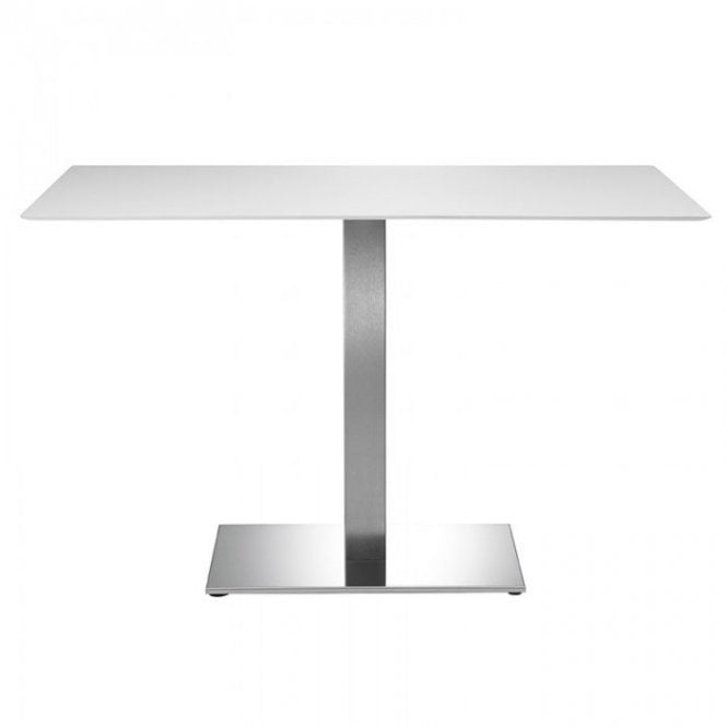 Inox Oblong D3 table base - Brushed S/S