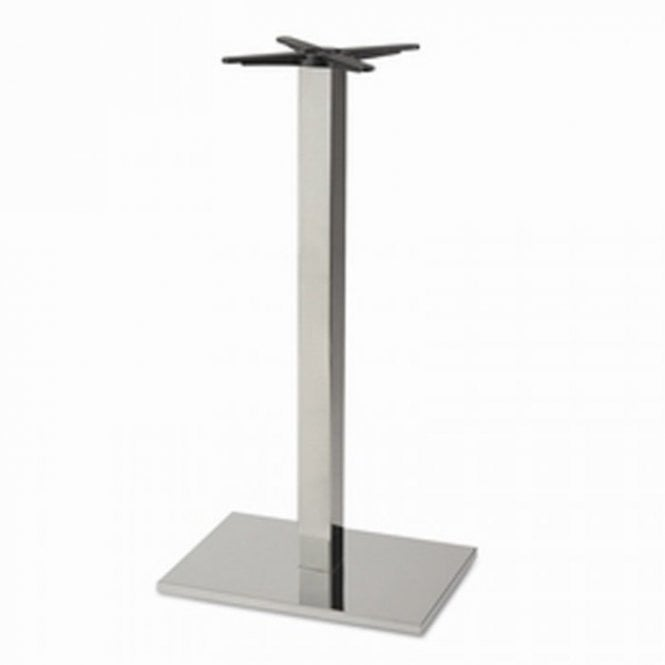 Inox Oblong P3 table base - Brushed S/S