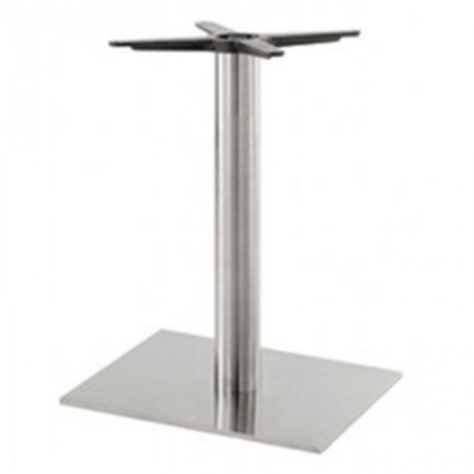 Inox Oblong (RC) D3 table base - Brushed S/S