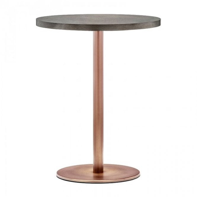 Hugo Round D1 Slim table base - Antique Copper