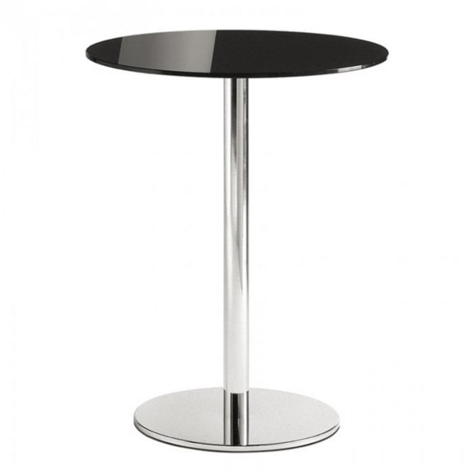 Hugo Round D1 table base - Polished stainless steel