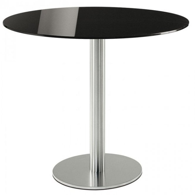 Inox Round D2 table base - Brushed S/S