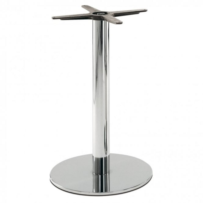 Hugo Round D2 table base - Polished S/S