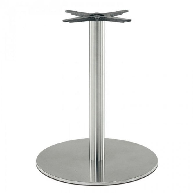 Hugo Round D3 table base - Brushed S/S