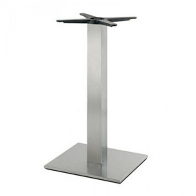 Inox Square C1 table base - Brushed S/S