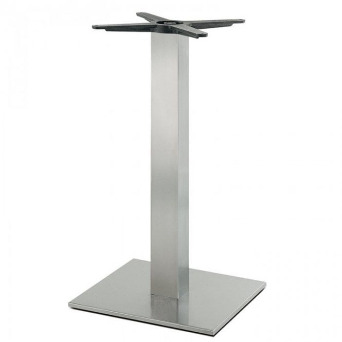 Hugo Square D1 table base - Brushed S/S
