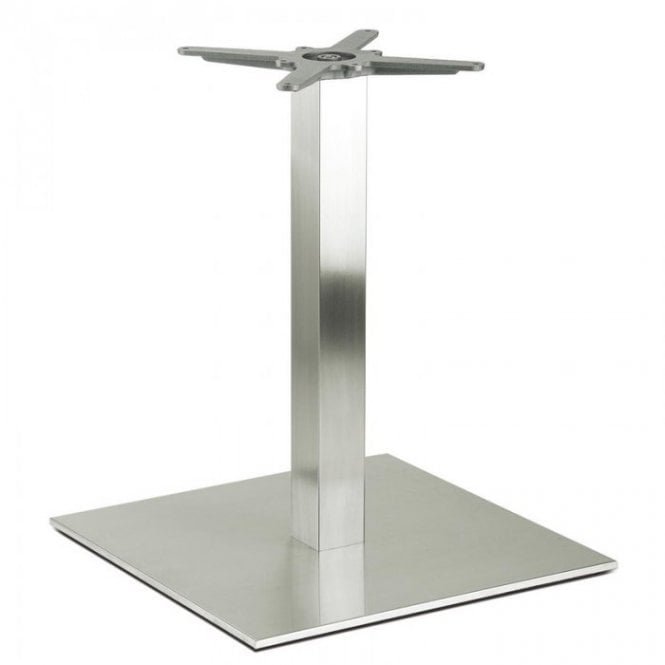 Inox Square D2 table base - Brushed S/S