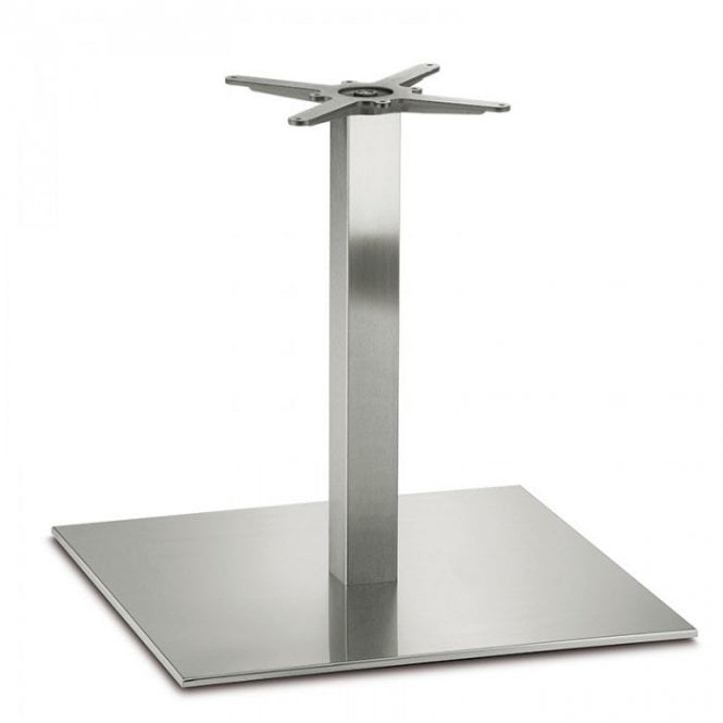 Inox Square D5 table base - Brushed S/S