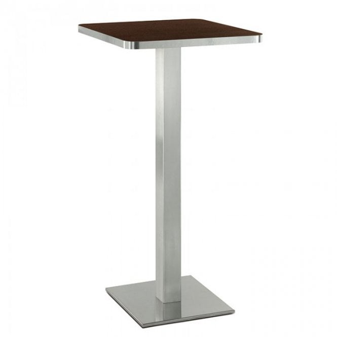 Hugo Square P1 table base - Brushed S/S