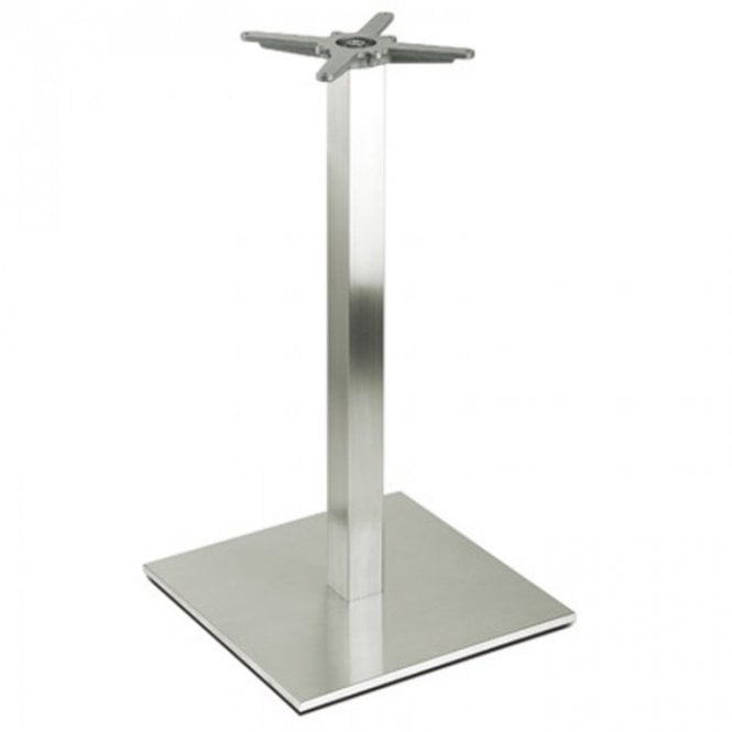 Inox Square P2 table base - Brushed S/S