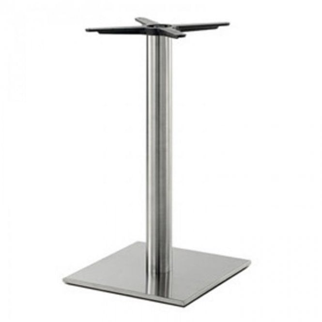 Hugo Square (RC) C1 table base - Brushed S/S