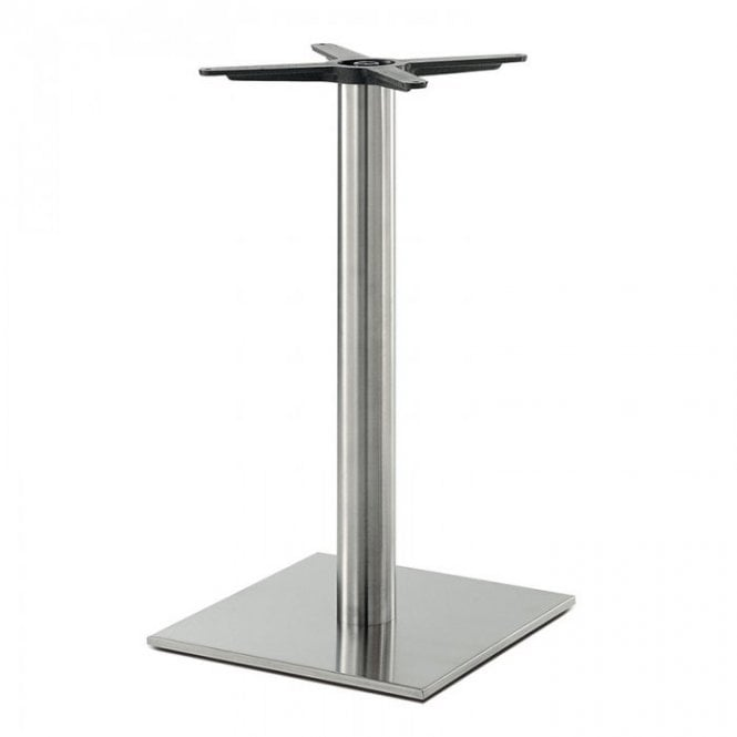 Inox Square (RC) D1 table base - Brushed S/S