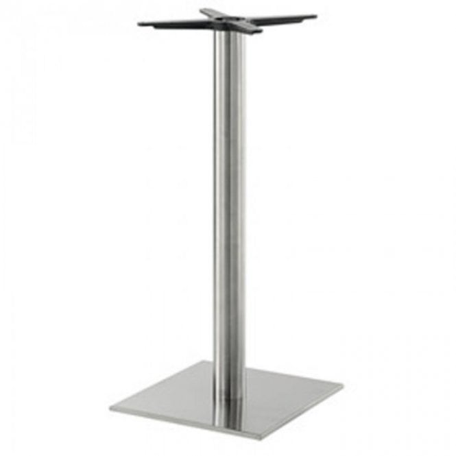 Hugo Square (RC) P1 table base - Brushed S/S