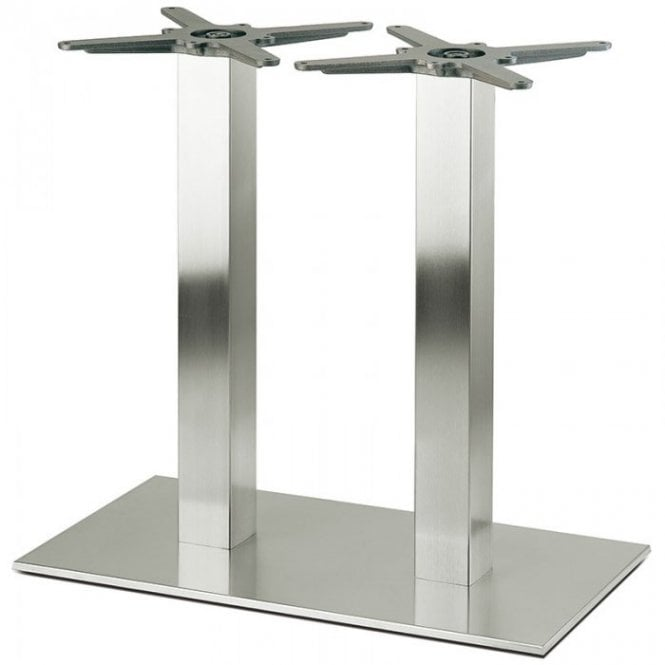 Inox Square Twin D6 table base - Brushed S/S