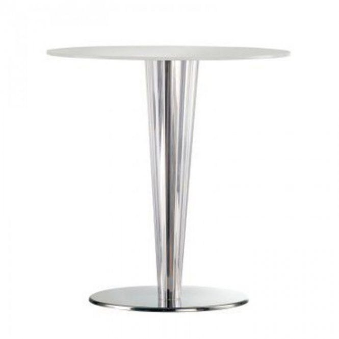 Krystal D1 table base - Polished Stainless Steel
