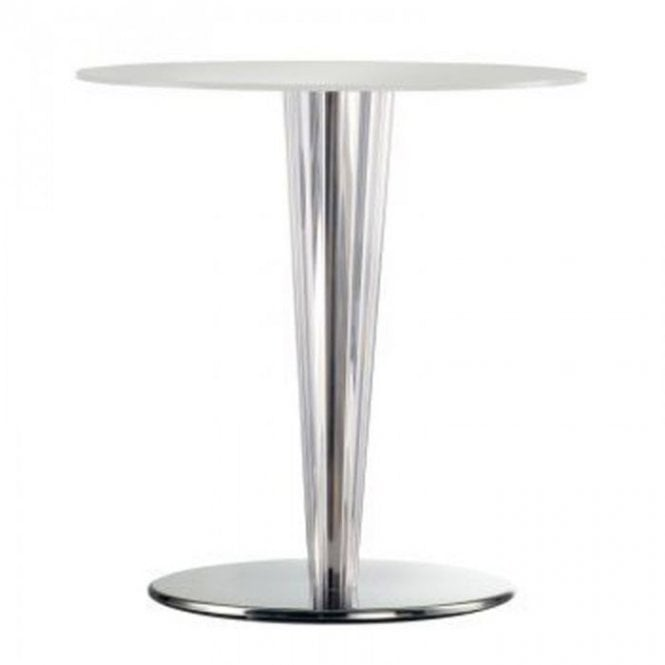 Krystal D2 table base - Polished Stainless Steel