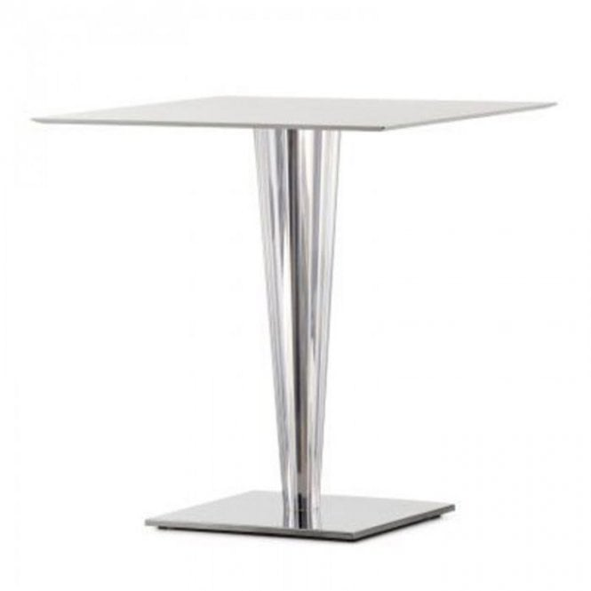Krystal D3 table base - Polished Stainless Steel