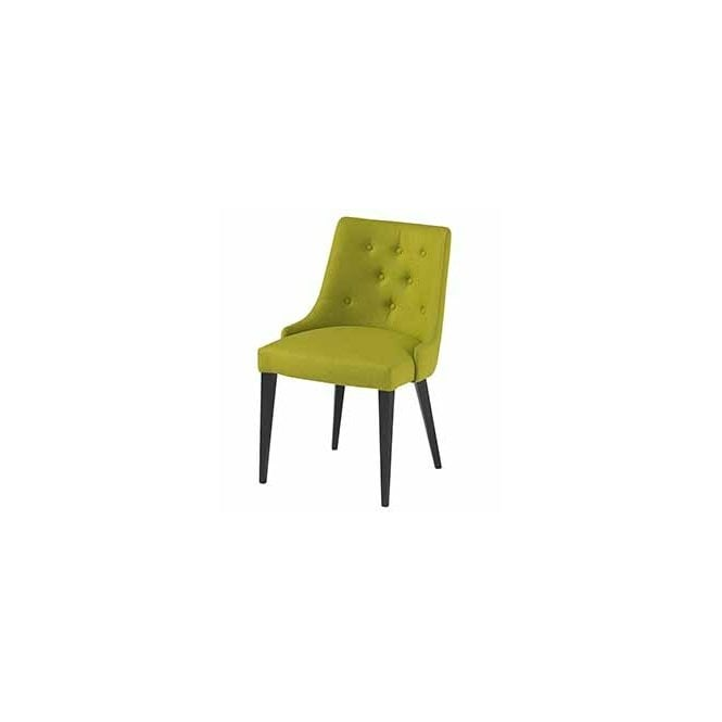 Louvre Buttoned Side Chair