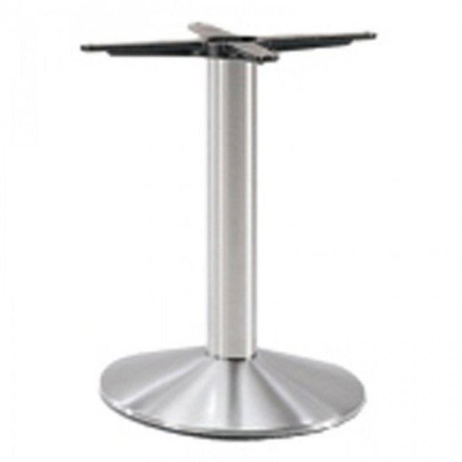 Napier Round C1 table base - Brushed S/S