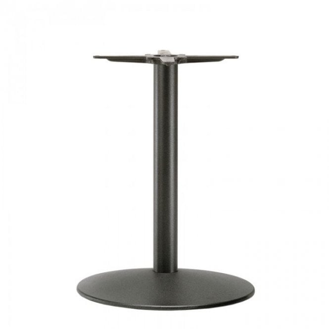 Napier Round D2 table base - Black