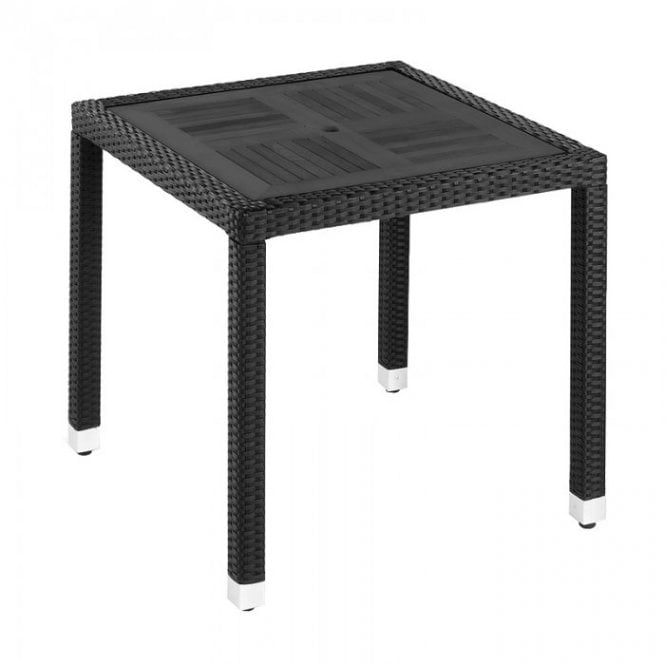Sorrento Slatted Top Outdoor Square Table