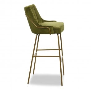 Louvre Fluted Tube Bar Stool