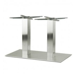 Hugo Oblong Twin C4 table base - Brushed S/S