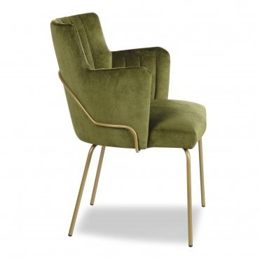 Louvre Fluted Tube Armchair