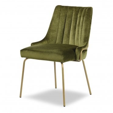 Louvre Fluted Tube Sidechair