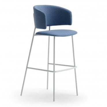 Wrap Steel 6C72 Bar Stool With Arms