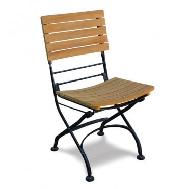 Terrace Teak Folding Side Chair