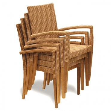 St Tropez Rattan Stacking Armchair