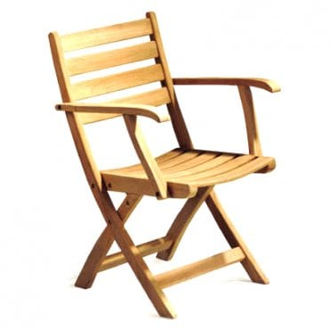 Suffolk Teak Folding Armchair