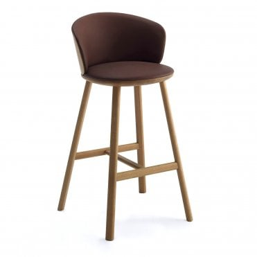 Palmo Bar Stool with Lounge Back